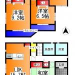 広陵町 中 新築 3号棟 2090万円(間取)