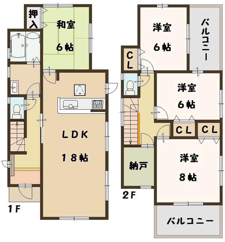 片岡台 新築 2号棟 1980万円 好評分譲中