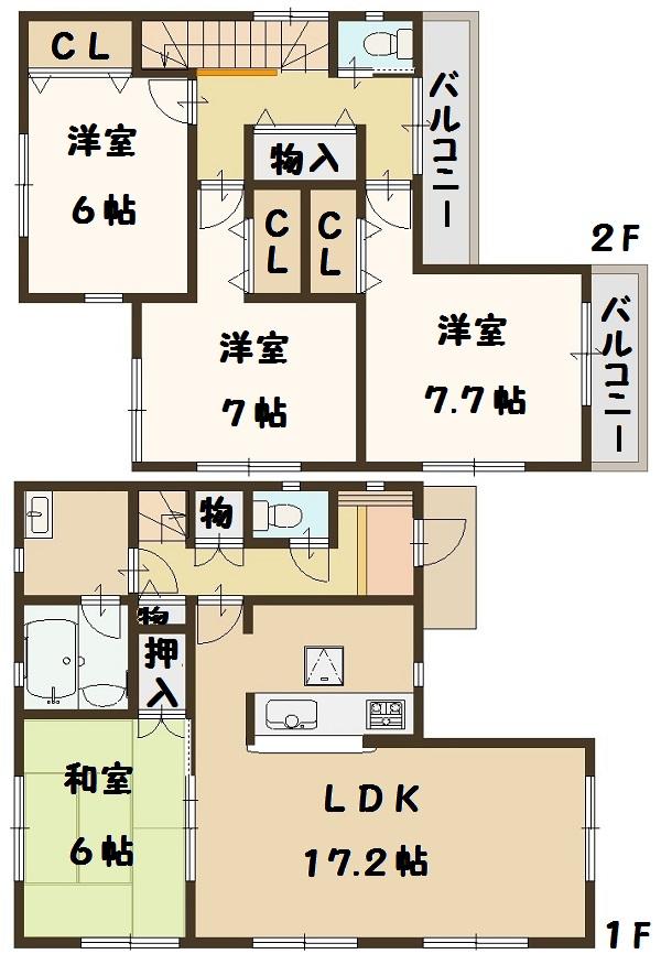上牧町 米山台 新築 3号棟 1890万円