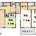 香芝市 下田東 6号棟 2080万円(間取)