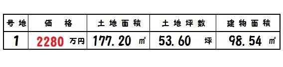 美松ヶ丘 1号棟 2280万円 好評分譲中