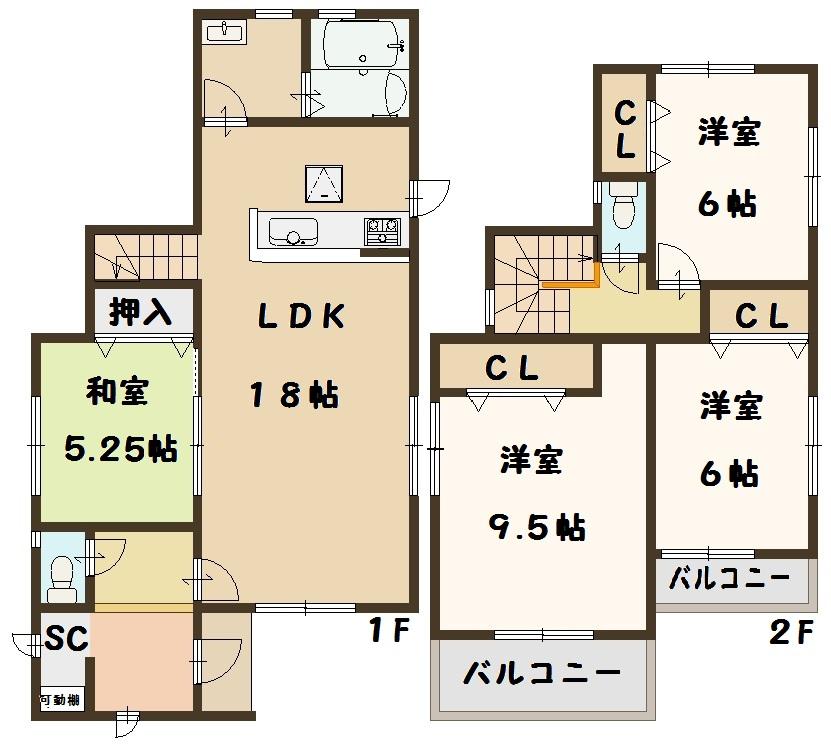 斑鳩町 龍田西 新築 6号棟 2380万円
