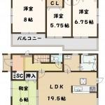 葛城市 東室 新築 1号棟 2190万円