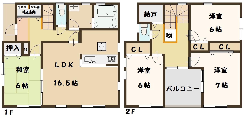 香芝市 白鳳台 2丁目 新築 限定1棟 間取り図面 好評分譲中