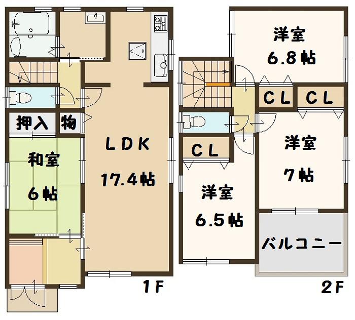 香芝市 下田東 3号棟 2280万円
