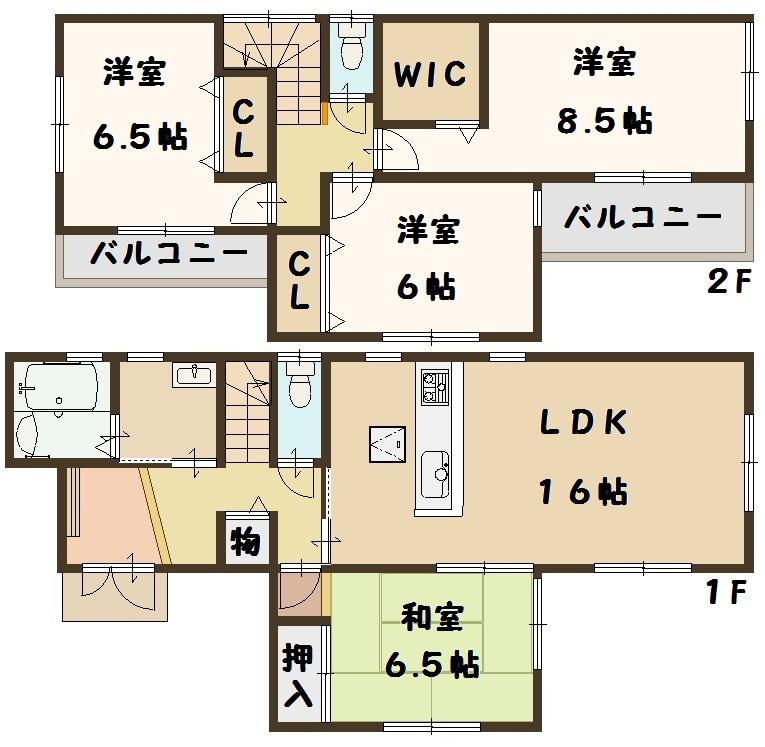 香芝市 下田東 4号棟 2580万円