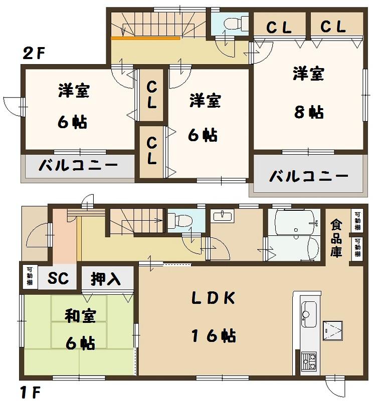 法隆寺東 新築 3号棟 間取り図面