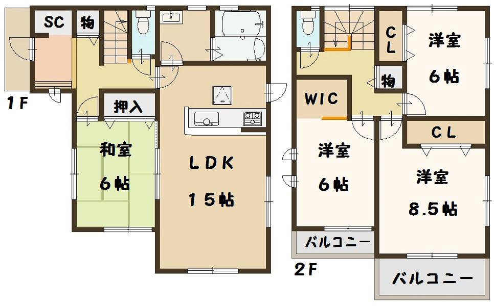 法隆寺東 新築 2号棟 間取り図面