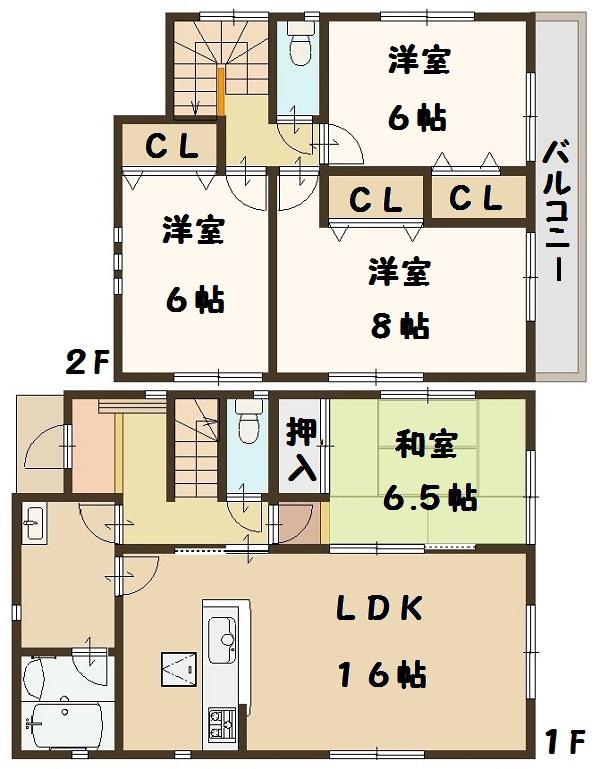 大和高田市 野口 新築 3号棟 1680万円