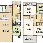 香芝市 畑 新築 2号棟 2280万円