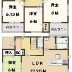 田原本町 宮古 新築 限定1棟 間取り図面 好評分譲中
