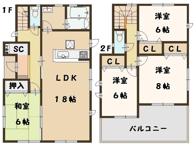 田原本町 秦庄 新築 3号棟 間取り図面 建物 飯田グループ 一建設