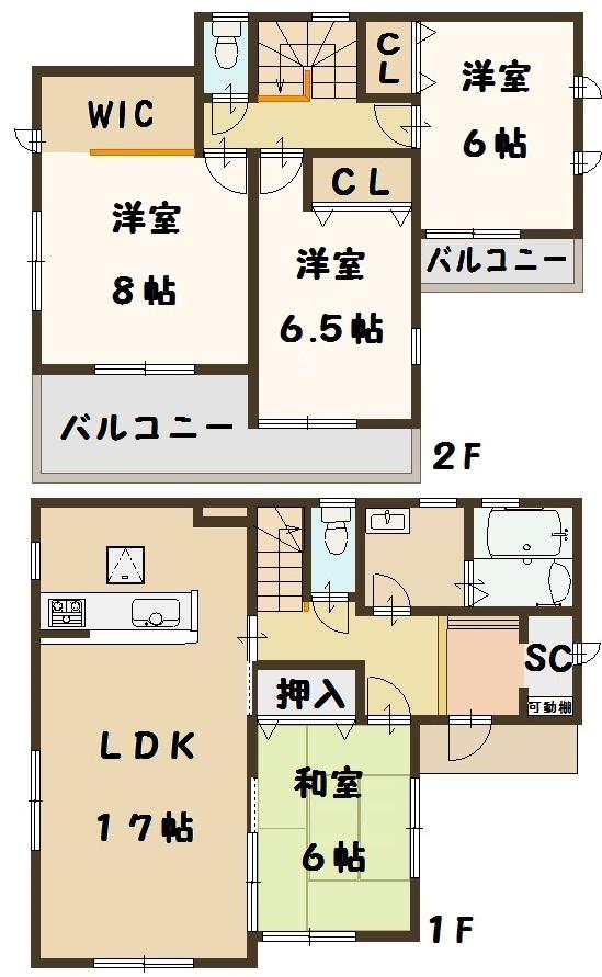 田原本町 八尾 新築 3号棟 間取り図面 建物 飯田グループ 一建設 お買い得
