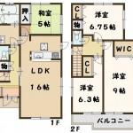田原本町 三笠 新築 全2棟 1号棟 タクトホーム 高級仕様