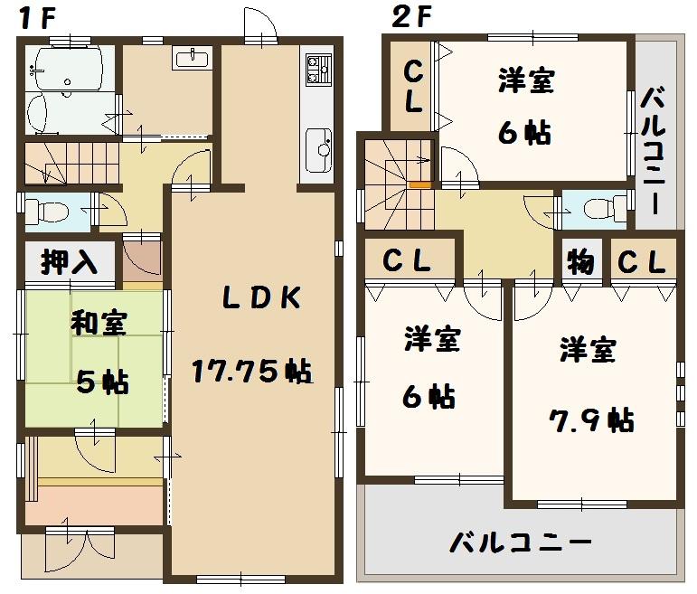 田原本町 三笠 新築 全2棟 2号棟 タクトホーム 高級仕様