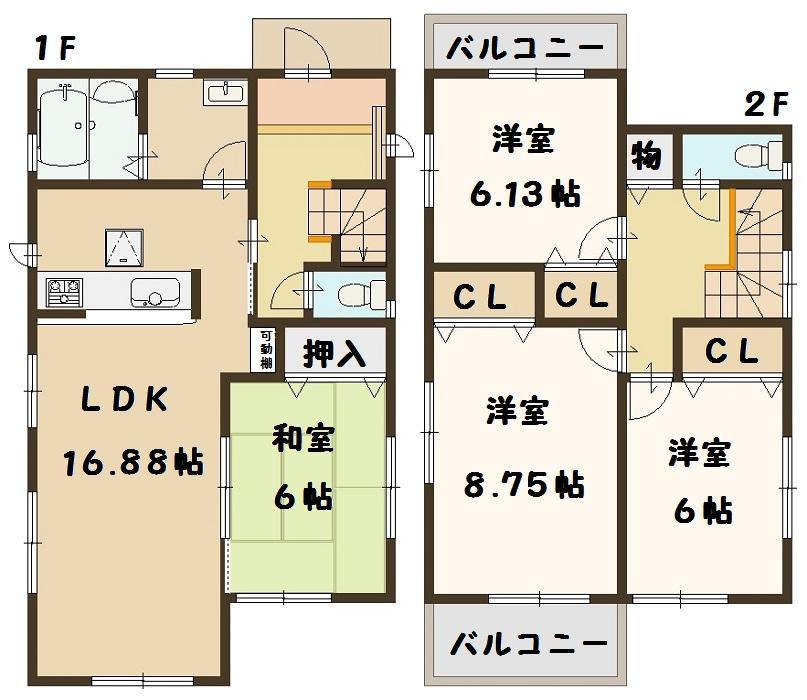 香芝市 畑 新築 3号棟 1780万円