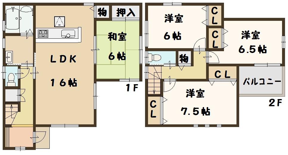 天理市 新築 2号棟 建物 ファースト住建 2730万円