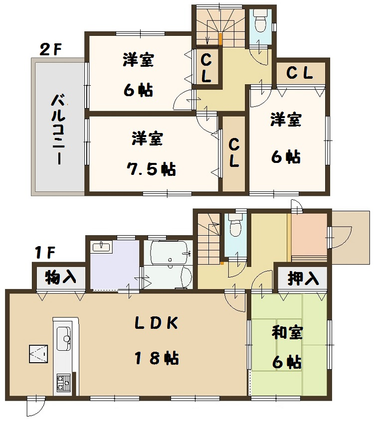 広陵町 大野 新築 3号棟 間取り図面 建物 飯田グループ 一建設 高級仕様
