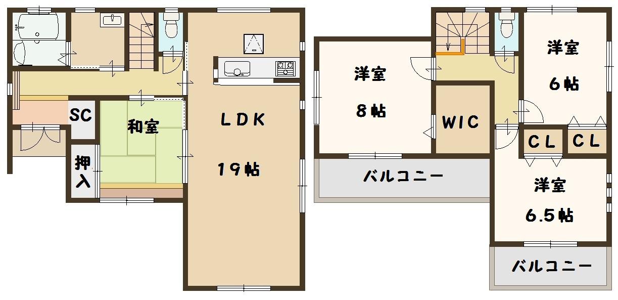 河合町 穴闇 新築 8号棟 大幅値下げ頑張ります。