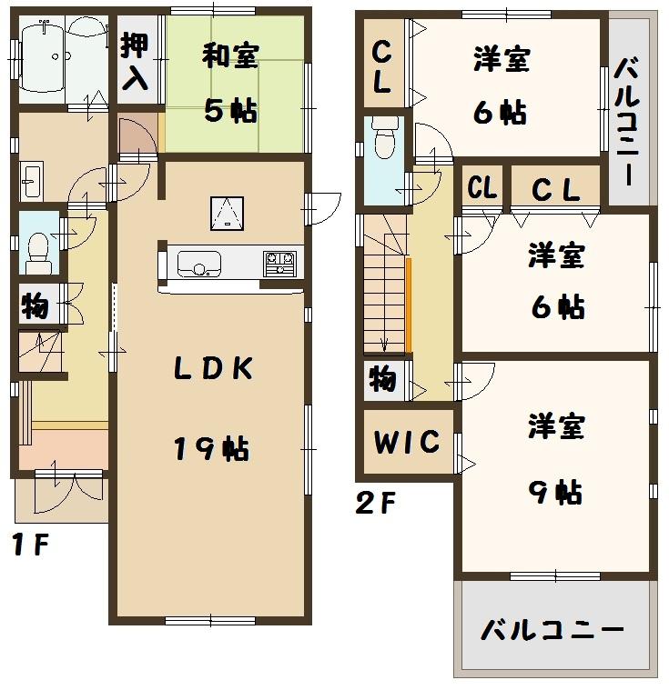 天理市 二階堂上ノ庄町 全3棟 1号棟 2680万円 タクトホーム
