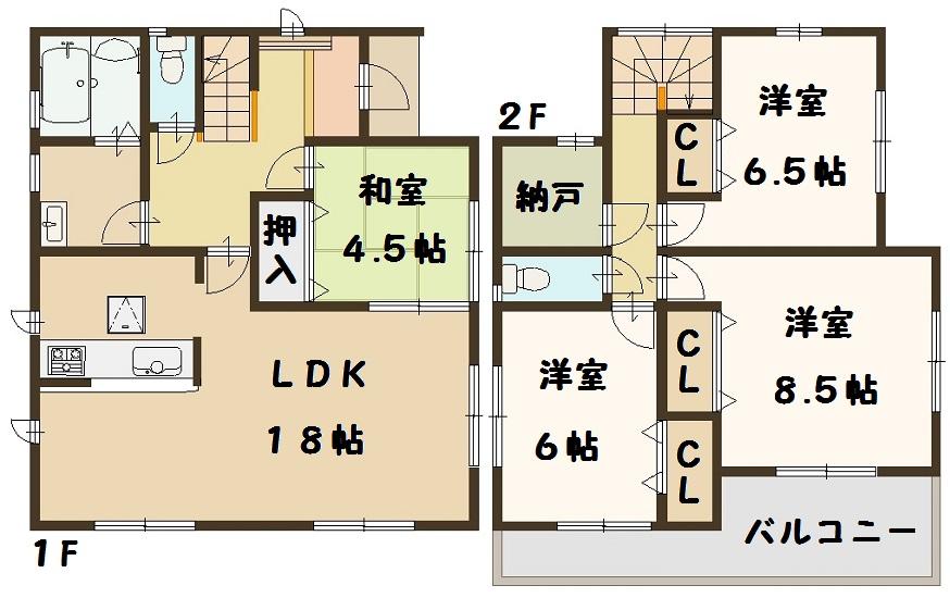 田原本町 黒田 新築 2号棟 間取り図面 好評分譲中