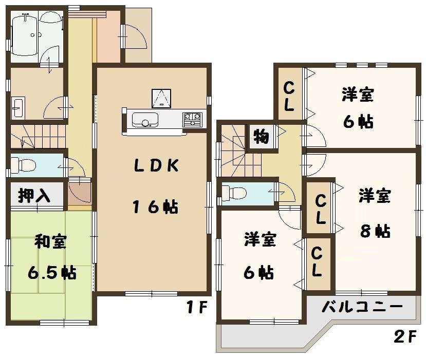 香芝市 鎌田 新築 1号棟 間取り図