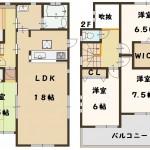 香芝市 五位堂 新築 1号棟 土地面積 39坪