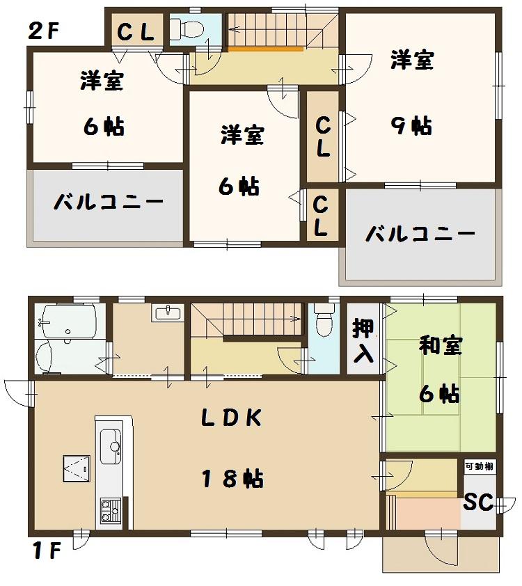 奈良県 斑鳩町 龍田西 新築 7号棟 間取り図面