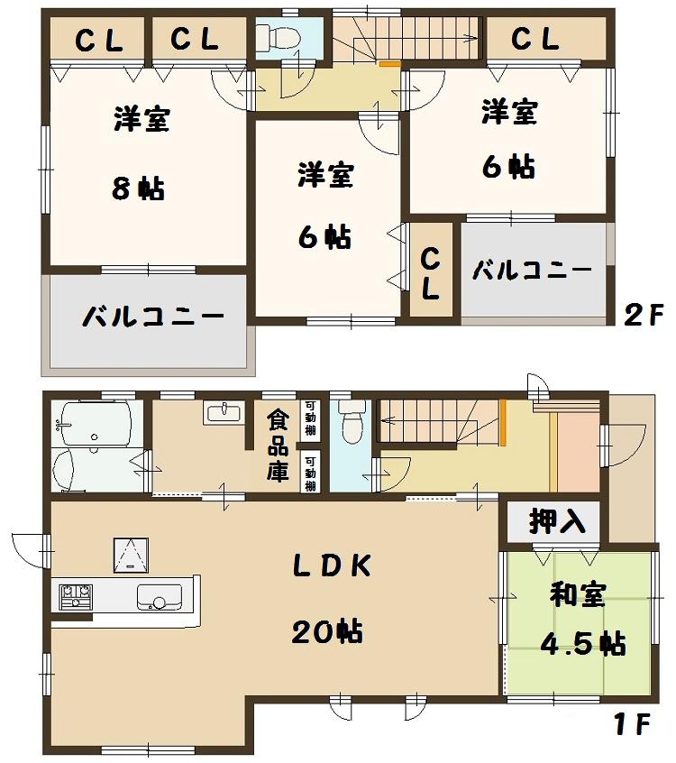 奈良県 斑鳩町 龍田西 新築 5号棟 間取り図面