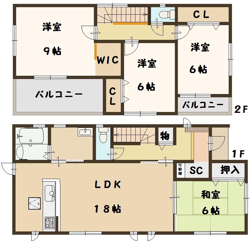 奈良県 斑鳩町 龍田西 新築 3号棟 間取り図面