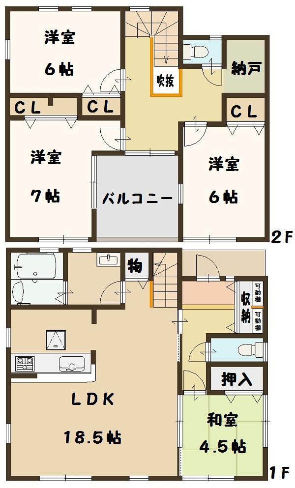 香芝市 下田東 3丁目 飯田グループ 一建設 お買い得(間取)
