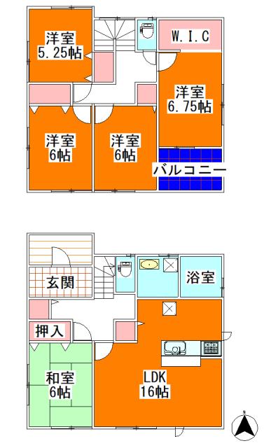 7号棟2180万円(間取)