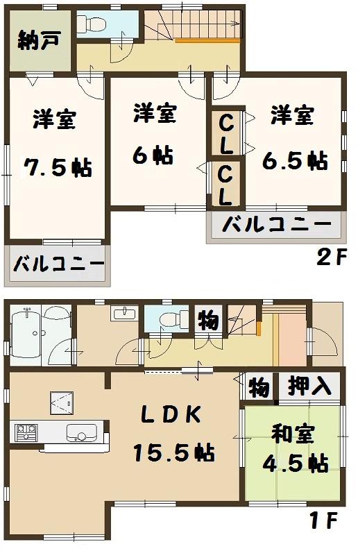 3号棟 間取り図面 奈良県