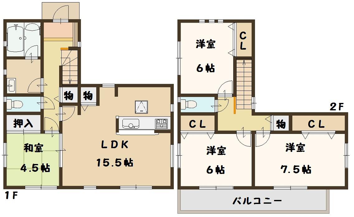 1号棟 間取り図面 奈良県 広陵町 新築一戸建て