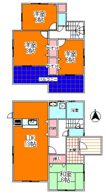 3号棟 2680万円(間取)