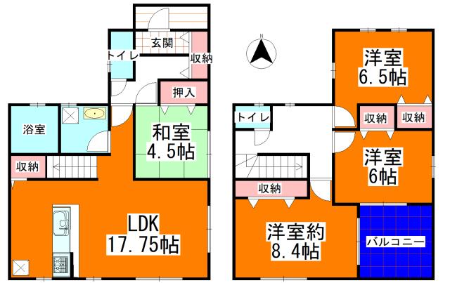 1号棟(間取)