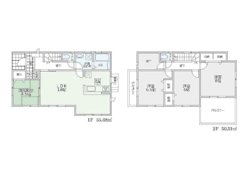 4LDK 駐車スペース4台以上可能 久美ヶ丘1丁目 株式会社ビート住(間取)